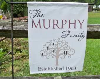 Flag, Family Tree Flags - Personalized Flags - Garden Flags  - Country Flags - Family Name Flags - MURPHY
