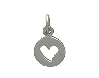 Sterling Silver Tiny Heart Cutout Charm