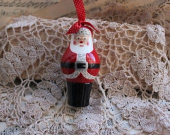 Santa Claus Christmas Tree Decoration ~ Handturned and Handpainted