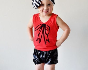 12-18 Black Faux Leather Bubble Bloomers