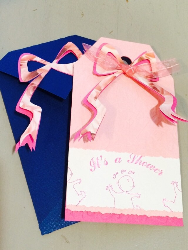ribbons bows baby shower invitation by roygbivs on etsy