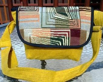 Handmade form Thailand bag. Cotton bag. Yellow bag.
