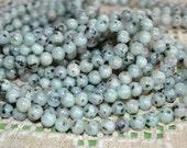 100pcs 4mm Sesame Jasper Natural Gemstone Beads Round 16 Inches Strand
