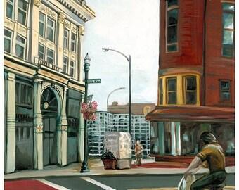 Market Block - Troy, NY - Print