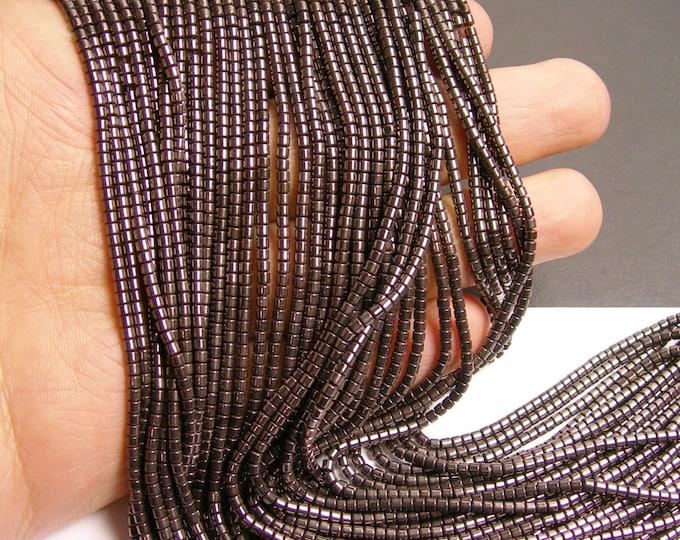 Hematite grey - 2mm tube beads - full strand - 200 beads - AA quality - PHG96