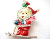 Santa Claus Necklace. Christmas Jewelry,Santa Claus Jewelry,Xmas Necklace, Secret Santa Gift, Winter Necklace, Red Necklace, Christmas Gift