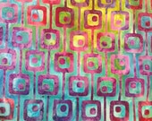 Geometric Dot Batik Gypsy Wrap, size M or L - yoga headband, hair wrap, dread wrap, pre tied bandana