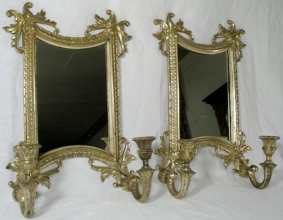Mirror Sconces Wall Decor : Victorian Mirror Candle Wall Sconces Steampunk decor