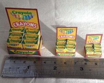 "DOLLS HOUSE MINIATURES - Crayola Shop Counter display (1""    3/4""    1/2"")"