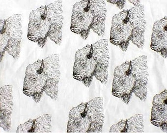 Bison Fabric*Buffalo Fabric Hot Diggity Dog Fabrics Novelty Fabric