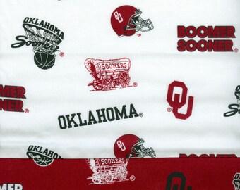 OU Boomer Sooners Pillowcase A, Oklahoma University handmade sports,  20 x 30
