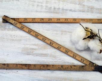 Lufkin Folding Ruler - wood yardstick - Wooden Measuring Tool