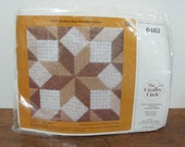 Vintage The Creative Circle 0463 Broken Star Sampler Pillow Mesh Canvas Kit