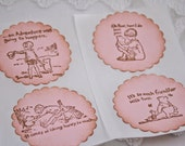 Classic Pooh Stickers Pink Girl Winnie the Pooh and Friends - Baby Shower Birthday Set of 10