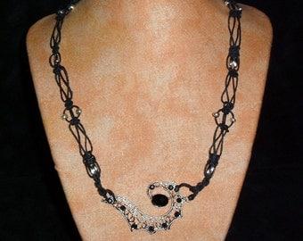 Hemp necklace BlackWeb