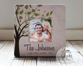 Our First Home Picture Frame, Couple Gift, First Home Gift Idea, Housewarming Gift, New Home Picture Frame