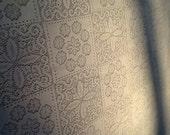 Vintage Table Cloth / Lace Table Cloth / Off White Table Cloth / Large Lace Table Cloth / Farm Table / Thanksgiving Table / Rustin Wedding