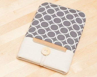 kindle cover / Kindle Paperwhite cover / kindle case / kindle fire case / kindle Aura HD case / kobo glo case - circles with pockets --