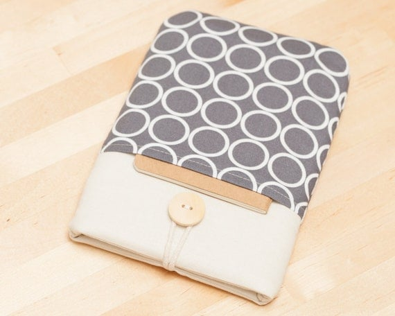 kindle cover / Kindle Paperwhite cover / kindle case / kindle fire case / kindle 4 case / kobo glo case - circles with pockets --