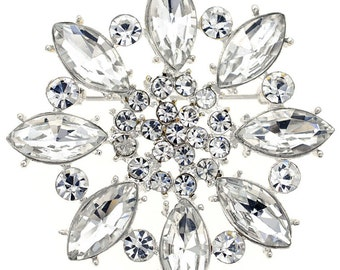 Crystal Flower Wedding Pin 1004082