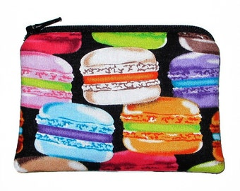 French Macarons Coin Change Purse Small Zipper Pouch