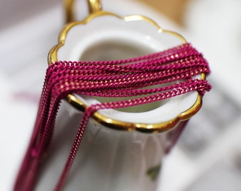 The shiny Magenta color chain (145SF-1.5mm-1)