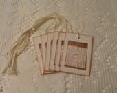 Bingo Card Christmas Gift Tags