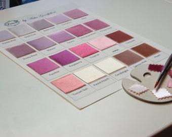Pink Wedding Shoe Swatch - Pink Swatch - Pink Flat Wedding Shoes- Over 100 Colors- Dyeable Wedding Shoes - Pink Bridal Shoes - Pink Wedding