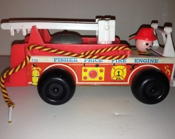 Vintage Fisher Price Fire Engine
