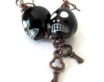 Voodoo jewelry Legba earrings hoodoo vodou unique voodoo earrings goth jewelry unusual jewelry papa legba skull earrings