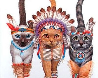 Three Kittens Cat Image Womans T Shirt Top  12252