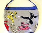 Power Rangers Purse or Bag - Mighty Morphin Power Rangers - Shoulder Bag Style - Upcycled made from vintage fabric