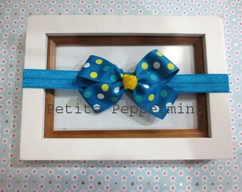 Turquoise Baby Headband, infant headband, toddler headband, Baby Bow Headband, Baby Hair Bow