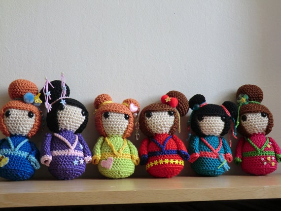 Amigurumi Free Patterns Geisha : Geisha girls amigurumi crochet pattern by AmigurumiBarmy ...