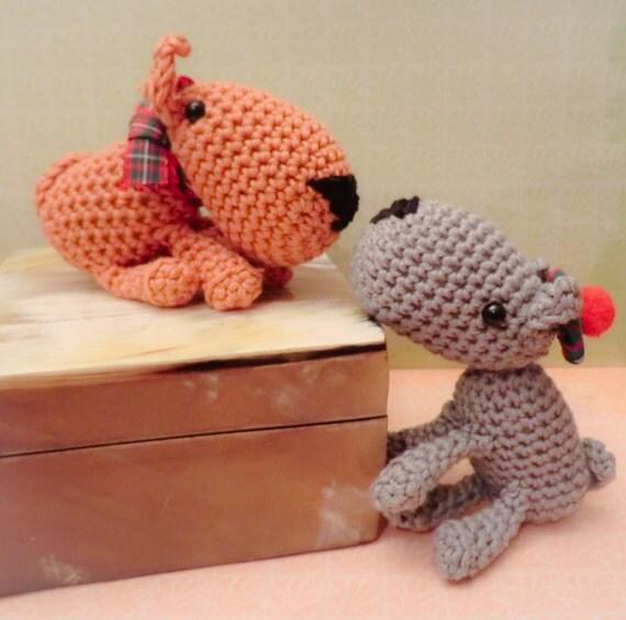 Amigurumi Scottie Dog Pattern : Tartan Scottie dogs amigurumi PDFcrochet pattern