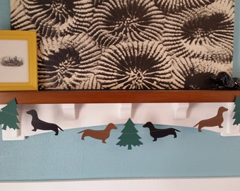 Dachshund Christmas Paper Banner
