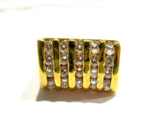 Mens CZ Ring Vintage New old Stock Never Worn size 10 1/2
