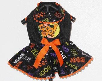 Boo Halloween Harness-Dress for Small Dog.