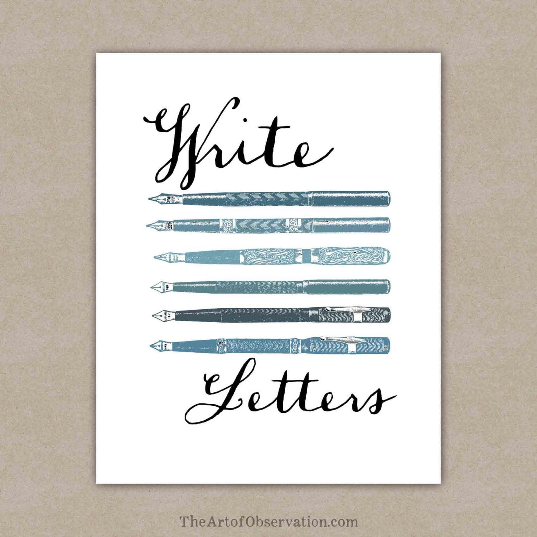Letter writing inspiration write letters art print