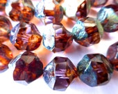 15 Light Transparent Alexandrite/Purple Amethyst Fire Polish with Diffusion   11x10mm size
