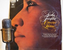 "Aretha Franklin Vintage Vinyl LP Record Album 1960s Soul Funk Ballads ""Once In A Lifetime""(SCARCE Holland Import 1968 Cbs w/""Unforgettable"""