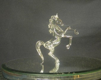 Rearing Glass Horse