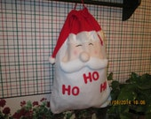 Medium Holiday gift bags-sacks-Personalized- Santa or Snowman