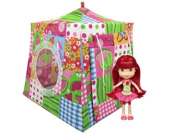 Toy Pop Up Tent, Sleeping Bags, multicolor, garden print fabric