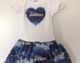 Dallas Cowboys Inspired infant Dress