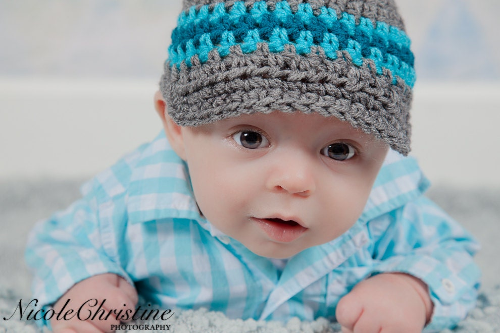 baby boy hat crochet hat newsboy hat baby hat coming home