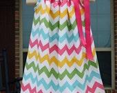 Child Pillowcase Dress (0-8) in Riley Blake Pink Girl
