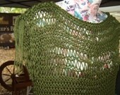 Loose Knit Slouchy Sweater Tunic in Deep Moss Green