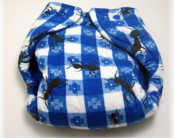 Picnic Ants Cloth  Diaper by Los Chiquitos Ready to Ship