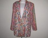 Funky vintage blazer, women's, large size